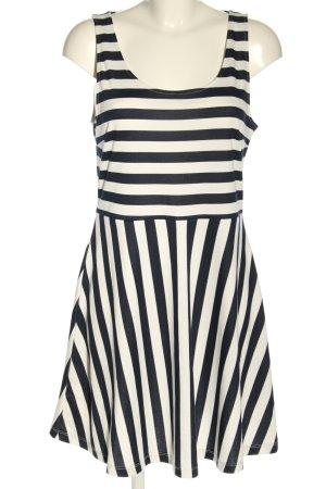 H&M Minikleid weiß-schwarz Allover-Druck Casual-Look