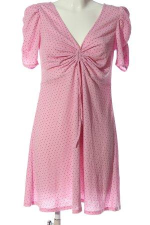 H&M Minikleid pink-schwarz Punktemuster Casual-Look