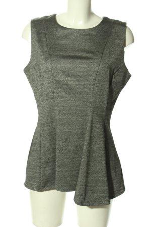H&M Top peplum gris claro moteado look casual