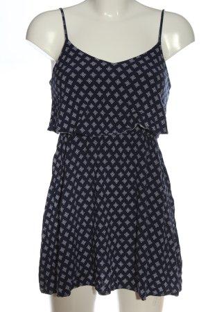 H&M Minikleid blau-weiß Allover-Druck Casual-Look