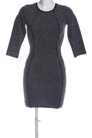 H&M Minikleid hellgrau-schwarz meliert Casual-Look