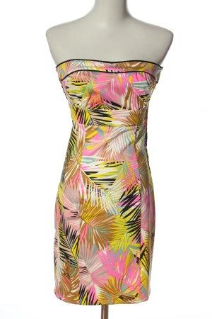 H&M Minikleid pink-blassgelb Allover-Druck Elegant