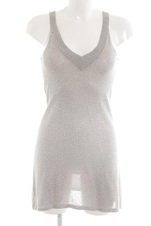 H&M Minikleid silberfarben Casual-Look
