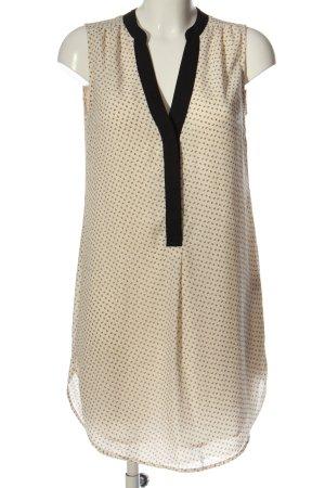 H&M Minikleid creme-schwarz Allover-Druck Business-Look