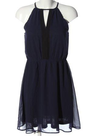 H&M Minikleid blau-schwarz Elegant
