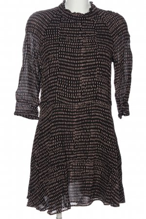 H&M Minikleid schwarz-nude abstraktes Muster Casual-Look