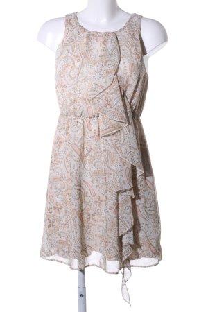 H&M Minikleid wollweiß-nude abstraktes Muster Casual-Look