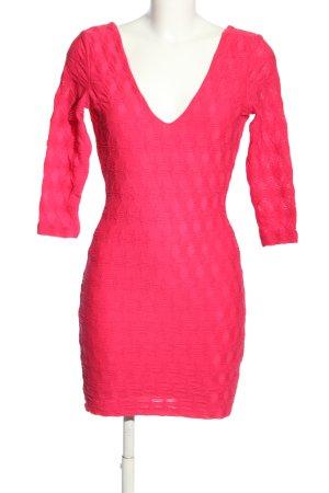 H&M Minikleid pink abstraktes Muster Elegant