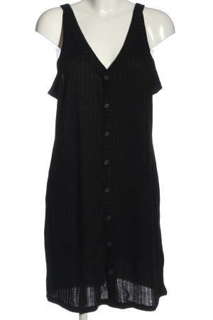 H&M Minikleid schwarz Streifenmuster Casual-Look