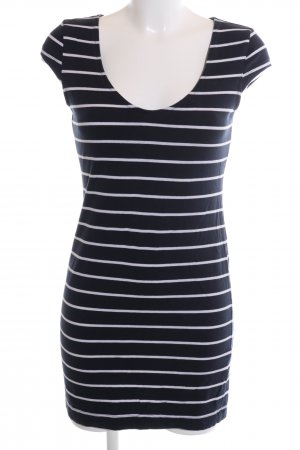 H&M Minikleid blau-weiß Streifenmuster Casual-Look