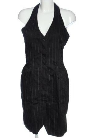 H&M Minikleid schwarz Streifenmuster Business-Look