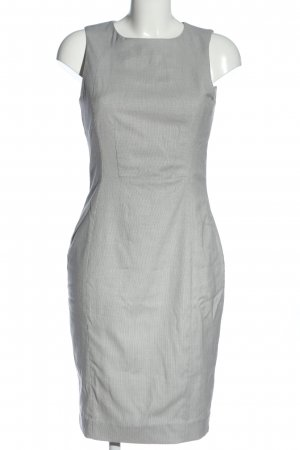 H&M Mini Dress light grey striped pattern casual look