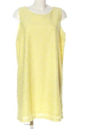 H&M Minikleid blassgelb Blumenmuster Casual-Look