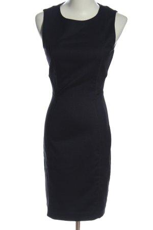 H&M Minikleid schwarz Webmuster Business-Look