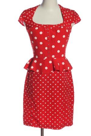 H&M Minikleid rot-weiß Allover-Druck Elegant
