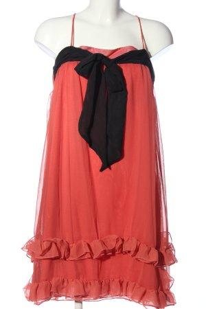 H&M Minikleid rot-schwarz Elegant