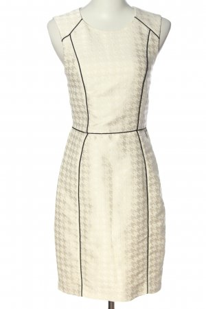 H&M Etuikleid weiß-schwarz Allover-Druck Casual-Look
