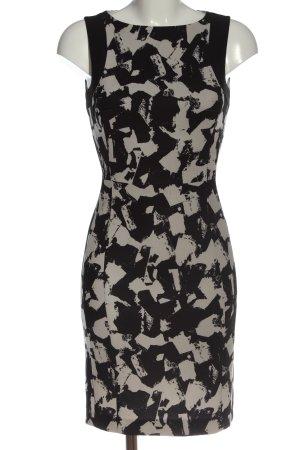 H&M Minikleid schwarz-wollweiß abstraktes Muster Business-Look