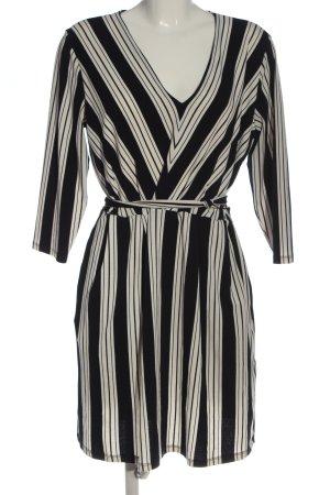 H&M Minikleid schwarz-wollweiß Streifenmuster Casual-Look