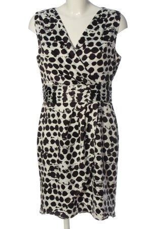 H&M Minikleid weiß-schwarz Allover-Druck Elegant