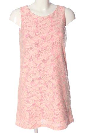 H&M Minikleid pink-wollweiß Allover-Druck Elegant