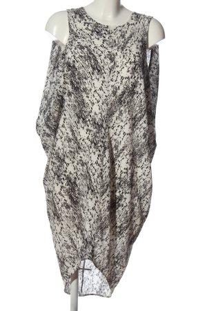 H&M Minikleid weiß-schwarz Casual-Look
