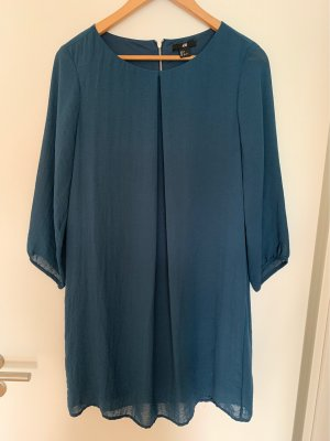 H&M Minikleid blau leger