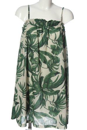 H&M Minikleid wollweiß-grün Motivdruck Casual-Look