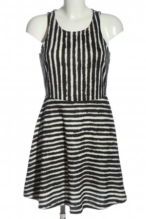 H&M Mini Dress black-white striped pattern elegant