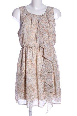H&M Minikleid wollweiß abstraktes Muster Casual-Look