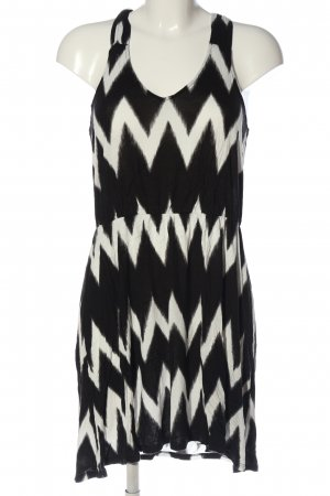 H&M Minikleid schwarz-weiß Allover-Druck Casual-Look
