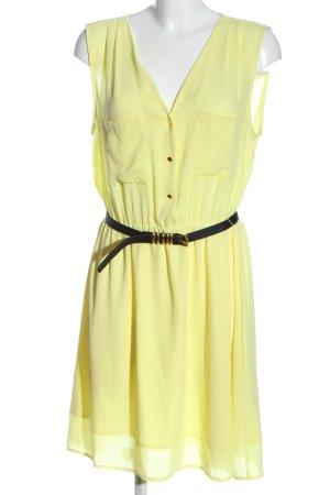 H&M Minikleid blassgelb Business-Look