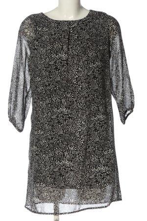 H&M Minikleid schwarz-weiß abstraktes Muster Casual-Look