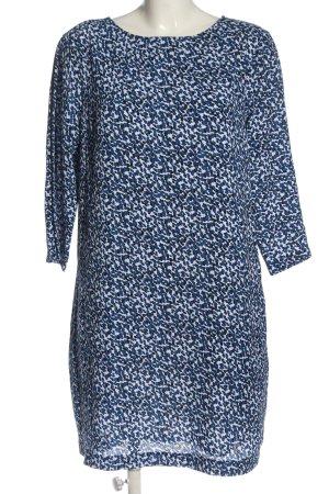 H&M Minikleid blau-weiß abstraktes Muster Casual-Look