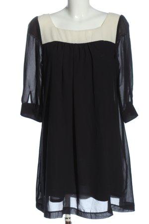 H&M Minikleid schwarz-wollweiß Elegant