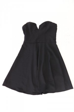 H&M Minikleid Größe 34 schwarz aus Polyester