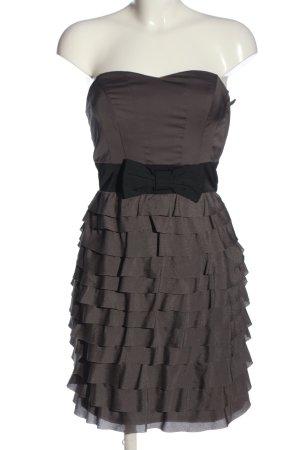 H&M Minikleid hellgrau-schwarz Elegant