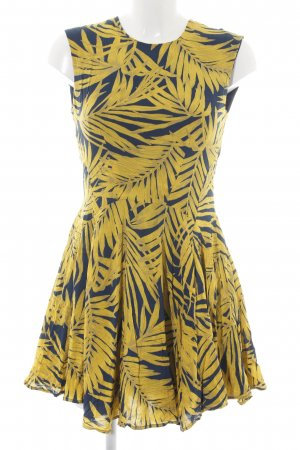 H&M Mini-jurk zwart-sleutelbloem volledige print zakelijke stijl