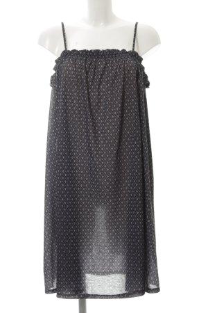 H&M Minikleid schwarz-hellgrau abstrakter Druck Casual-Look