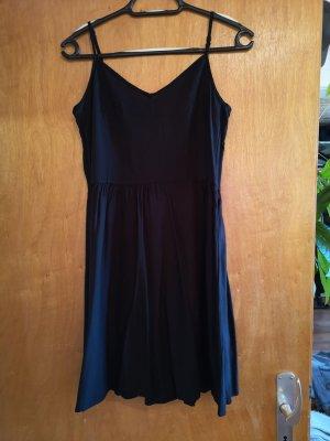 H&M Minikleid, Trägerkleid, A-Linien Kleid, schwarz, Größe 38