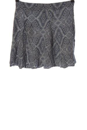H&M Minirock schwarz-weiß Allover-Druck Casual-Look