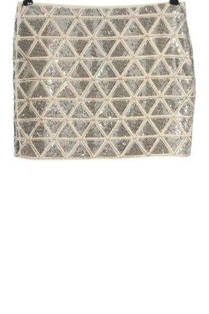 H&M Minirock silberfarben-wollweiß Elegant
