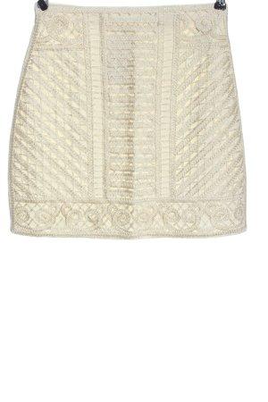 H&M Minirock creme Schriftzug gestickt Casual-Look