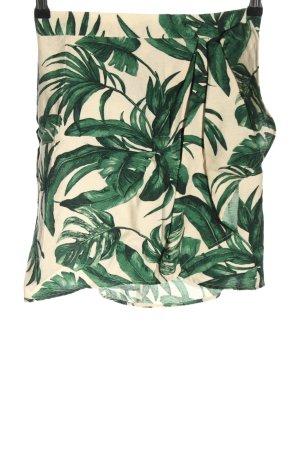 H&M Minirock wollweiß-grün Allover-Druck Casual-Look