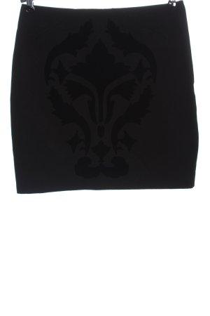 H&M Minirock schwarz Motivdruck Business-Look