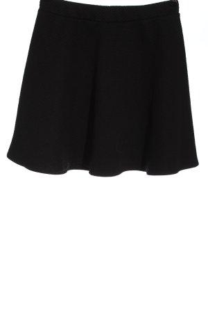 H&M Minirock schwarz abstraktes Muster Elegant