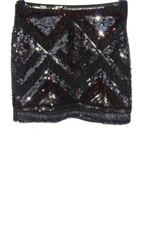 H&M Minirock schwarz grafisches Muster Elegant