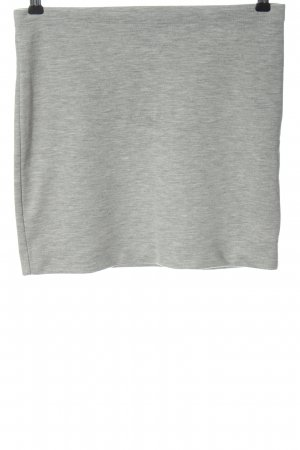 H&M Minirock hellgrau meliert Casual-Look