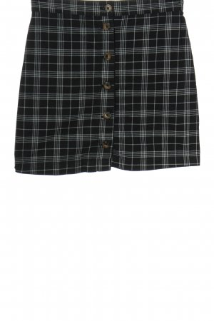 H&M Minirock schwarz-weiß Karomuster Casual-Look