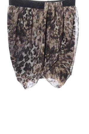H&M Minirock braun Animalmuster Casual-Look